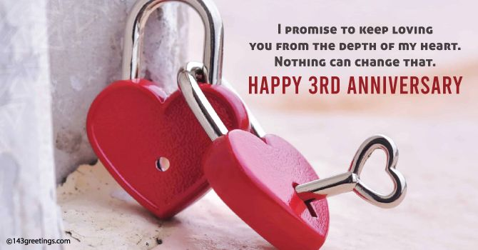3rd Anniversary Message for Girlfriend