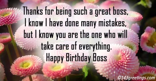Birthday wishes for boss birthday messages for boss 143 greetings