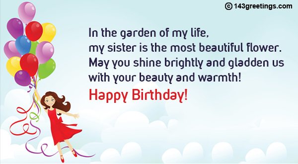 The Best Birthday Wishes For Sister Messages Sms 143 Greetings