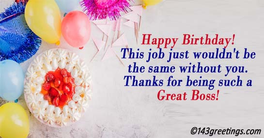 Birthday messages wishes and sms for boss 143 greetings boss birthday wishes m4hsunfo