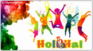 Holi Messages Card