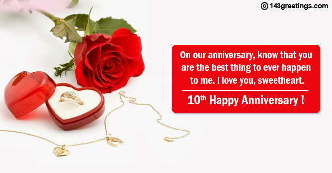 10th marriage anniversary wishes for wife
