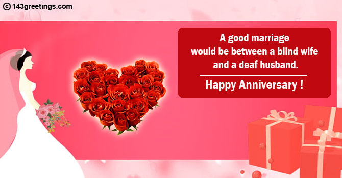 Funny marriage anniversary quotes for wife