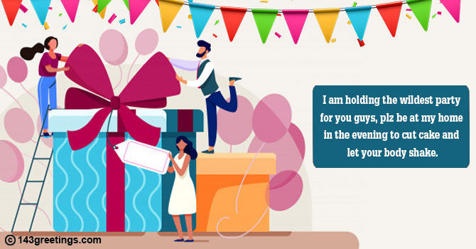 Invitation Message for Birthday Party
