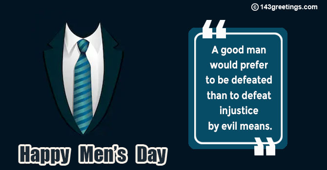 Mens Day Quotes