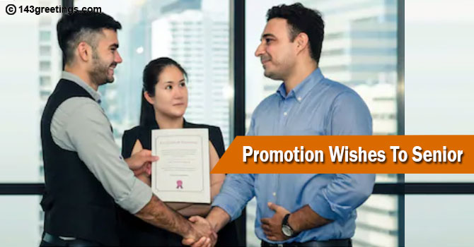 Promotion Wishes To Senior