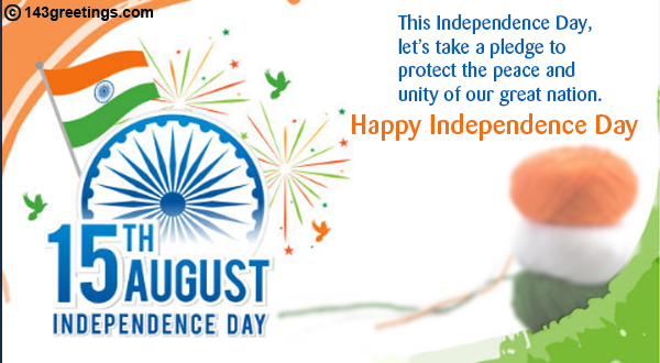 Independence Day Messages: Best wishes for Independence Day