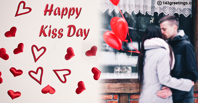 Kiss Day Message Card